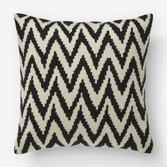 WEST ELM- CHEVRON CREWEL PILLOW COVER $39