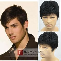 Handsome Short Hairstyle With Side Left Part Mens Human Hair Wigs Cheap Price For Online Sale Denver
