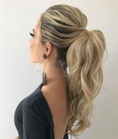 DIY Ponytail Ideas You're Totally Going to Want to 2019 Adorable Ponytails - DI. DIY Ponytail Ideas You're Totally Going to Want to 2019 Adorable Ponytails - DIY Ponytail Ideas You're Totally Going to Want to 2019 Adorable Ponytail Hairstyles; High Pony Hairstyle, Ponytail Hairstyles For Prom, Trendy Hairstyles, Bridesmaid Hair Ponytail, Wedding Ponytail Hairstyles, Summer Hairstyles, Long Haircuts, Easy Hairstyle, Hair Updos For Prom