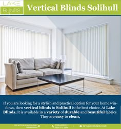 Room is too bright? This means your windows need something that allows you to control the sunlight. There are so many different types of curtains that people use for this purpose. But nothing can beat the versatility of vertical blinds Solihull. Sliding Windows, Small Windows, Fitted Blinds, Best Blinds, Horizontal Blinds, Types Of Curtains, Ceramic Materials, Window Coverings, Be Perfect