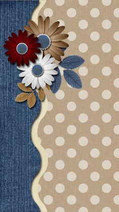 Denim and Khaki Wallpaper Denim Wallpaper, Flowery Wallpaper, Heart Wallpaper, Screen Wallpaper, Mobile Wallpaper, Wallpaper For Your Phone, Cellphone Wallpaper, Iphone Wallpaper, Flower Backgrounds