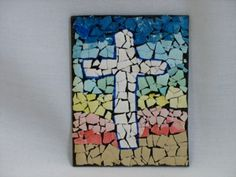 2 Easter Mosaic crafts for Sunday school.  Make a beautiful mosaic cross for Sunday School or VBS.