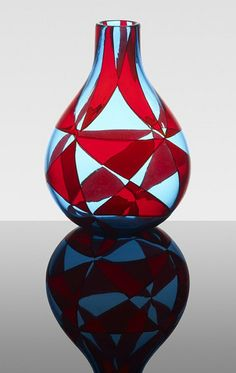 Ercole Barovier, Intarsio vase (1963)