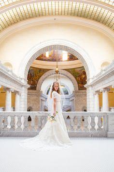 Utah State Capitol Bridals / Utah Bride / Shantell Bullock Photography / Utah Wedding