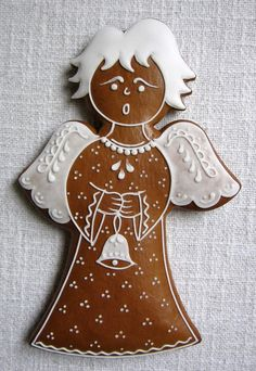 Christmas Goodies, Christmas Angels, Christmas Baking, Christmas Holidays, Christmas Crafts, Angel Cookies, Xmas Cookies, Christmas Gingerbread Men, Gingerbread Cookies