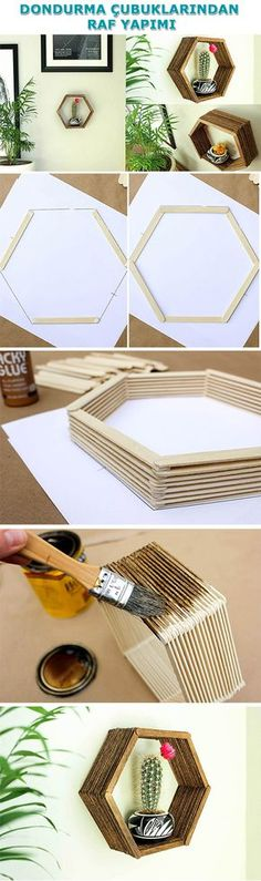 23 Clever DIY Christmas Decoration Ideas By Crafty Panda Diy And Crafts Sewing, Crafts To Sell, Home Crafts, Arts And Crafts, Diy Crafts, Popsicle Stick Crafts, Craft Stick Crafts, Image Deco, Craft Wedding