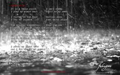 lyrics RAINY NIGHT