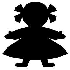 meisjes slinger voorbeeld om uit te knippen