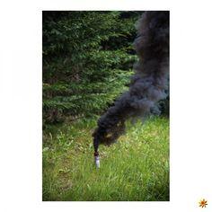 Rauchfackel Schwarz #pyrotechnik #pyro #rauch #rauchfackeln