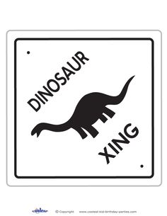 Printable Dinosaur Crossing Decoration - Coolest Free Printables
