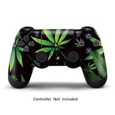 247Skins - Sticker de Protection pour Manette PS4 Playstation 4 Sony - Weeds Black: Amazon.fr: Jeux vidéo
