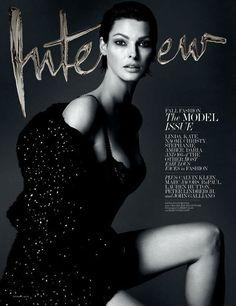 Interview Magazine September 2013: Amber, Daria, Naomi, Christy, Kate, Linda & Stephanie by Mert & Marcus | The Fashionography