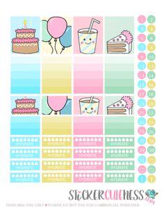 Birthday Pastel – StickerCuteness