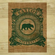 Baylor Burlap - Baylor Scroll