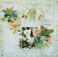 Layout by Steph Devlin using the Butterfly Garden Collection (Pink Paislee/Gypsy Chick).