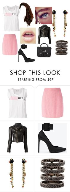 """Untitled #2568"" by sam12356 ❤ liked on Polyvore featuring RED Valentino, Chanel, Dsquared2, Yves Saint Laurent, Les Néréides, Repossi and Marc by Marc Jacobs"