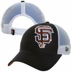 New Era San Francisco Giants 9FORTY Ladies Sequin Shimmer Adjustable Hat - Black/White