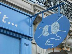 Storefront Signs, Shop Signage, Cafe Sign, Town Names, Restaurant Signs, Fun Signs, Restaurant Interior Design, Yarn Shop, Business Signs
