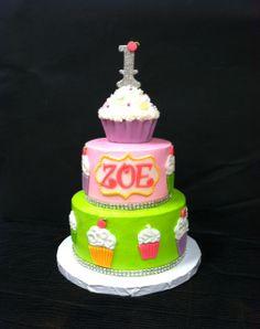 Children's Birthday Cakes - Cupcakes & Bling 1st Birthday