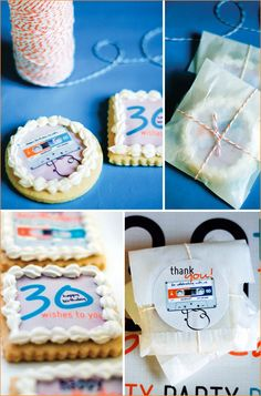 """30th birthday party - mixed tape Adorable idea-display anything from 19i3 that was """"in!"""""""