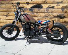 Photo by Chris Stearns Shadow Bobber, Brat Motorcycle, Off Road Bikes, Bobber Chopper, Vintage Motorcycles, Old Skool, Motorbikes, Honda, Trucks