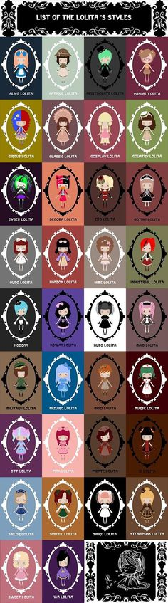 The various styles of lolita
