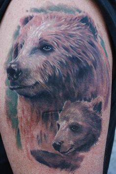 Bear tattoos are one of the most popular animal tattoos. Learn about bear tattoo … - Tattoo Catalog Bear Tattoo Meaning, Tattoos With Meaning, Tattoo Meanings, Grizzly Bear Tattoos, Black Bear Tattoo, Animal Tattoos For Women, Cubs Tattoo, Tattoo Catalog