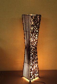 Unusual Shell & Metal Hand made Bali floor lamp-Contemporary art ...:Asian Floor Lamp Kuta (LA12-40/WE), Designer Bali Light Decoration,Lighting