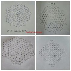 Flowers drawing simple geometric Ideas for 2020 Indian Rangoli Designs, Simple Rangoli Designs Images, Rangoli Designs Latest, Rangoli Designs Flower, Rangoli Border Designs, Small Rangoli Design, Rangoli Patterns, Rangoli Designs With Dots, Rangoli With Dots