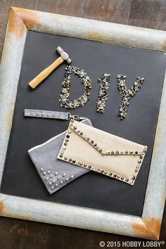 Fashionistas, this DIY's for you! To get this glam rock look, just add rivets and studs to your favorite clutch.