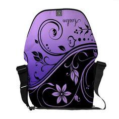 Shop Black & Purple Floral Scroll Messenger Bag created by TheInspiredEdge. Purple Love, All Things Purple, Shades Of Purple, Deep Purple, Pack Your Bags, Cute Bags, Looks Cool, Beautiful Bags, Vera Bradley Backpack