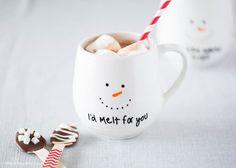 I'd melt for you painted mug gift - get the instructions at iheartnaptime.com