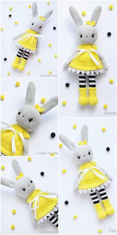 The latest amigurumi bunny crochet patterns are waiting for you. You can find everything on this site that you cannot find related to Amigurumi. Easter Crochet, Crochet Bunny, Cute Crochet, Crochet Crafts, Crochet Projects, Sewing Crafts, Crochet Doll Pattern, Crochet Patterns Amigurumi, Amigurumi Doll