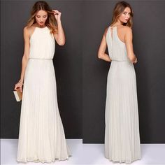 Sexy Summer Boho evening / beach white Maxi dress Sexy Summer Boho evening / beach white Maxi dress.100% Brand new and high quality Type: Women Sexy Party Dress Material: Chiffon Color: White size: Small 85-88cm(bust) , 65-67cm(waist) , 91-94cm (hip), 37-39cm(shoulder) ,144-146cm(length) Dresses Maxi