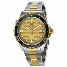 Tag Heuer Aquaracer Champagne Dial Steel and Gold Mens Watch WAK2121.BB0835 TAG Heuer. $2322.02. Save 30%!