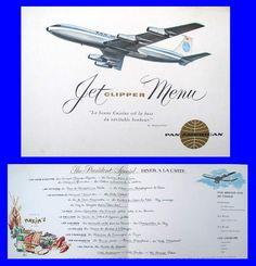 Pan Am Menus