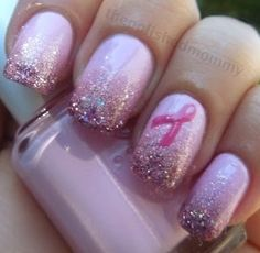 Breast Cancer Awareness nails!!! #nails #InternationalProm