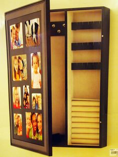 Turn a medicine cabinet into a wallmounted jewelry box It only