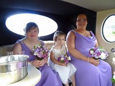 Bridesmaids wear M592 in Mulberry from our True Bridesmaid Collection