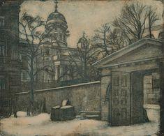 """EERO JÄRNEFELT, """"NIKOLAINKIRKKO"""". - Bukowskis Helene Schjerfbeck, Bukowski, Global Art, Helsinki, Art Market, Finland, Cathedral, Past, Sketches"""