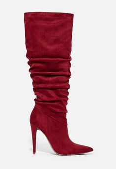 Mayari Heeled Slouch Boot in Port Royale Buy Shoes, Me Too Shoes, Nike Shoes, Jeans Shoes, Doc Martens Boots, Sexy Boots, Knee High Boots, Red High Heel Boots, Womens High Heels