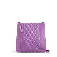 This slim crossbody bag provides hands-free functionality. The Quilted Molly Crossbody's adjustable shoulder strap allows for comfort and customization and the slim silhouette offers a sleek a low profile. The exterior zip pocket keeps keys and phone handy, while three interior pockets keep necessities tidy.