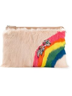 Shop Shourouk rainbow fur clutch in Elite from the world's best independent boutiques at farfetch.com. Over 1500 brands from 300 boutiques in one website.