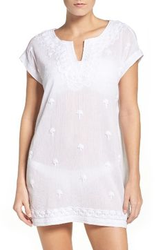 Free shipping and returns on Tommy Bahama Cover-Up Dress at Nordstrom.com. Chunky embroidery frames this crinkled cover-up that's a must at the beach.