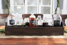 Simple Glass Bottle Centerpiece