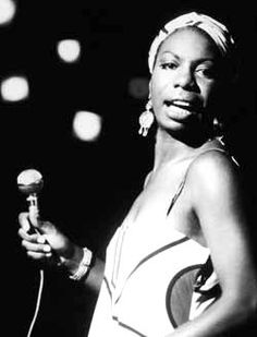 my favorite female vocalist of all time.  nina simone.