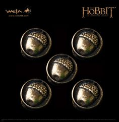 Bilbo's buttons 5 pack [For some reason, I really feel the need to recreate Bilbo's costume. I'll just need $44.95 + s/h to get these pretty buttons] :^)