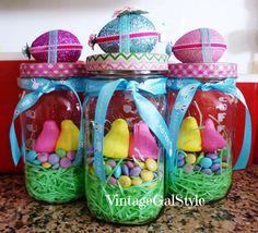 Easter Vintage Mason Jar Gifts - Cottage Gal Style