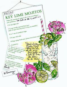 a Lilly Key Lime Mojito