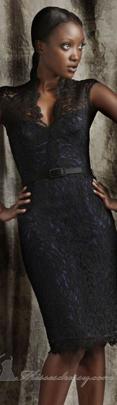 Lovely cocktail dress by Theia #lace #elegant Worn very well.  I love this.  #Corporate Engagements